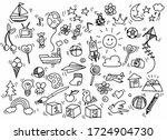 vector illustration of doodle... | Shutterstock .eps vector #1724904730