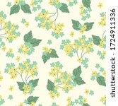 floral seamless pattern. vector ... | Shutterstock .eps vector #1724911336