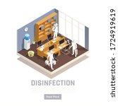 sanitizing isometric background ... | Shutterstock .eps vector #1724919619