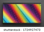 wavy surface with dynamic... | Shutterstock .eps vector #1724927473