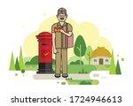 Illustration Of Postman...