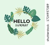 hello summer. modern...   Shutterstock .eps vector #1724957389
