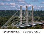 suspension bridge at Nipigon ON, Canada