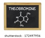 chemical formula of theobromine ... | Shutterstock . vector #172497956
