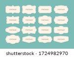 vintage frames set  clipart... | Shutterstock .eps vector #1724982970
