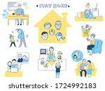 a set of scenes to enjoy... | Shutterstock . vector #1724992183