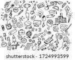 vector illustration of doodle... | Shutterstock .eps vector #1724993599