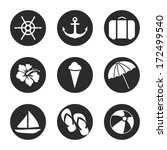 summer icons set.vector | Shutterstock .eps vector #172499540