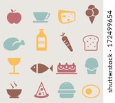 food icons set.vector | Shutterstock .eps vector #172499654