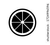 orange icon vector isolated on... | Shutterstock .eps vector #1724996596