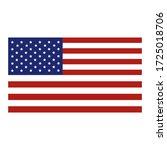 america flag vector template... | Shutterstock .eps vector #1725018706