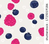 seamless pattern with berries... | Shutterstock .eps vector #1725019186