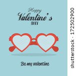 love design over blue   ... | Shutterstock .eps vector #172502900
