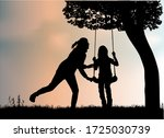 fun at the playground  concepts ... | Shutterstock . vector #1725030739