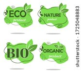 organic  eco  natural  bio set... | Shutterstock .eps vector #1725048883