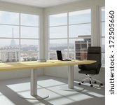 empty modern office room with... | Shutterstock . vector #172505660