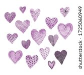 purple hearts are a symbol of... | Shutterstock . vector #1725060949