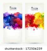 two headers. bright watercolor... | Shutterstock .eps vector #172506239