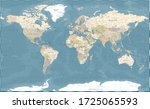 World Map Vintage Dark...