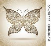 vintage ornamental butterfly .... | Shutterstock .eps vector #172507400