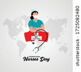 12 may international nurses day.... | Shutterstock .eps vector #1725082480
