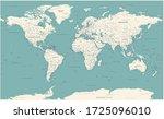 world map vintage political  ... | Shutterstock .eps vector #1725096010