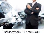 choosing a car at dealership....