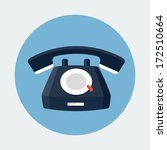 telephone icon | Shutterstock .eps vector #172510664