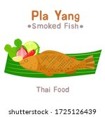 Smoked Fish And Vegetable Vector