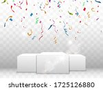 colorful confetti fall on the... | Shutterstock .eps vector #1725126880