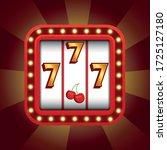 stylish 777 icon for a casino...