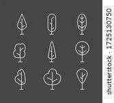 tree icon illustration set tree ... | Shutterstock . vector #1725130750