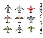 plane icon sign pictogram... | Shutterstock . vector #1725130873