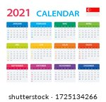 2021 calendar singaporean  ... | Shutterstock .eps vector #1725134266