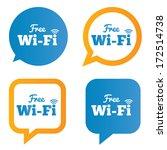 wifi speech bubbles. free wifi... | Shutterstock .eps vector #172514738