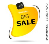 big  exclusive sale  low prices ... | Shutterstock .eps vector #1725147640