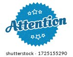 attention sign. attention round ... | Shutterstock .eps vector #1725155290