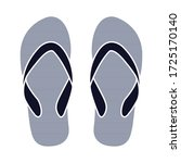 sandals icon. flip flops icon.... | Shutterstock .eps vector #1725170140