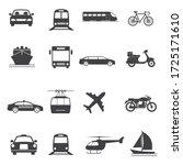 transport vector icon set.... | Shutterstock .eps vector #1725171610