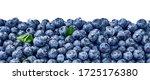 fresh blueberry background.... | Shutterstock . vector #1725176380