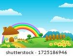 fantasy village vector... | Shutterstock .eps vector #1725186946