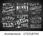 merry christmas greeting card... | Shutterstock .eps vector #172518743