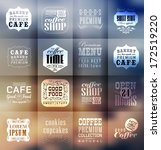 retro bakery labels and... | Shutterstock .eps vector #172519220