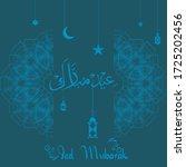 ied mubarak. islamic design... | Shutterstock .eps vector #1725202456