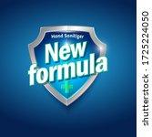 new formula logo. sanitizer gel ... | Shutterstock .eps vector #1725224050