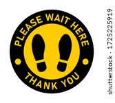 please wait here thank you keep ... | Shutterstock .eps vector #1725225919