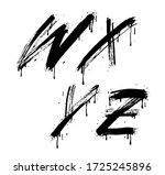 w  x  y  z brush stroke letters ... | Shutterstock .eps vector #1725245896