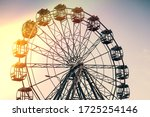 Ferris Wheel On A Background Of ...