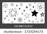 star doodles set. hand drawn...   Shutterstock .eps vector #1725254173