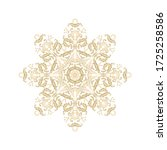 golden ornamental floral... | Shutterstock .eps vector #1725258586